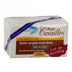 Rogé Cavailles Savon surgras Extra doux Fleur de Coton 2 x 250g
