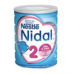 Nidal natea 2 lait en poudre dès 6 mois 800g