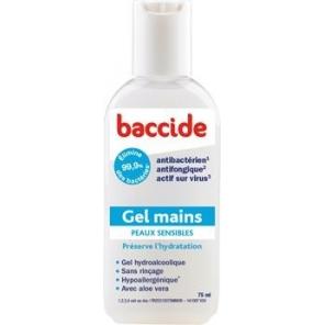 Baccide Gel Main Peaux Sensibles à l'Aloe Vera 75ml