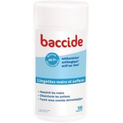 Baccide lingettes main et surfaces - Boite de 100