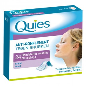 Quies bandelettes nasales anti ronflement 24